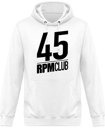 Sweat Shirt à Capuche Homme - 45 RPM CLUB (black)-Mister Galette