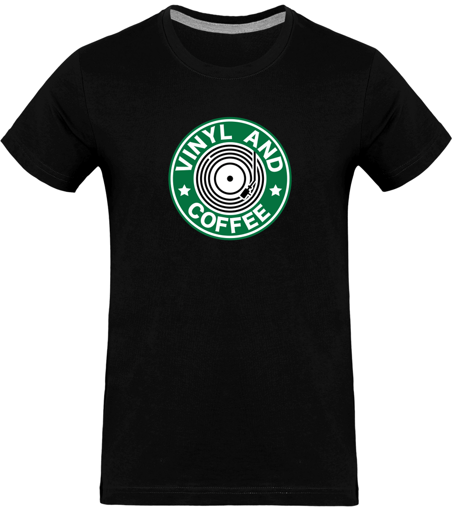 T-shirt Homme Col rond - Vinyl and Coffee-Mister Galette