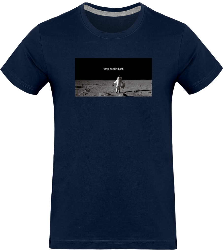 T-shirt Homme Col rond - Vinyl To The Moon-Mister Galette