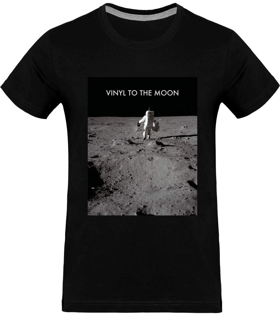 T-shirt Homme Col rond - Vinyl to the Moon (Entire version)-Mister Galette