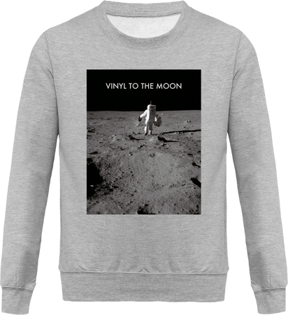 Sweat Homme Col Rond - Vinyl to the Moon (entire version)-Mister Galette