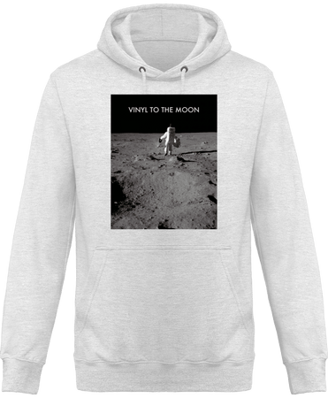 Sweat Shirt à Capuche Homme - Vinyl to the Moon (entire version)-Mister Galette