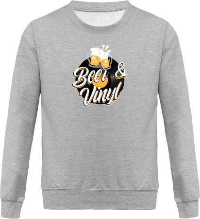 Sweat Homme Col Rond - Beer and Vinyl-Mister Galette