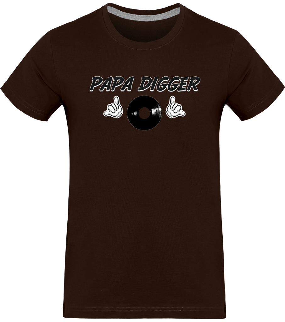 T-shirt Homme Col rond - Papa Digger