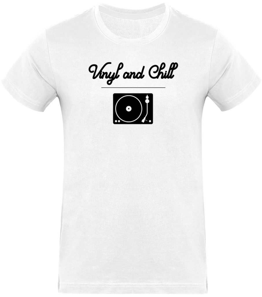 T-shirt Homme Col rond - Vinyl and Chill (Black Edition)