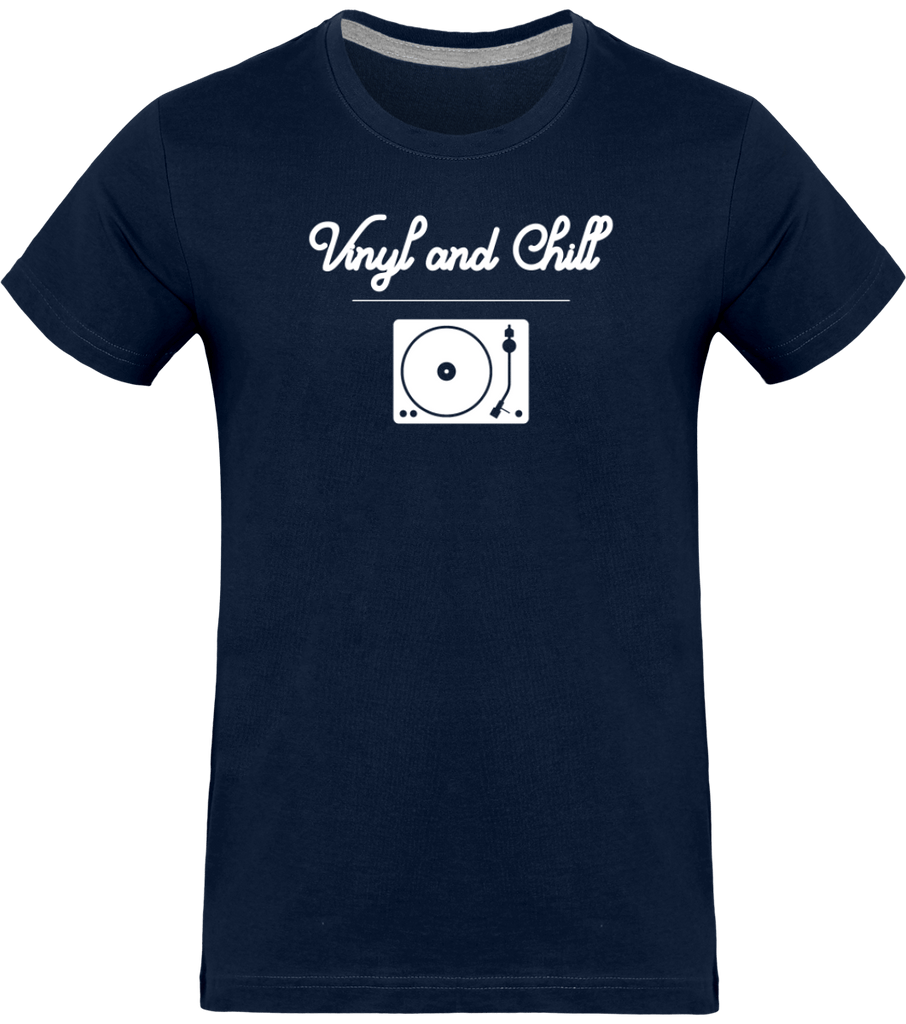 T-shirt Homme Col rond - Vinyl and Chill (White Edition)