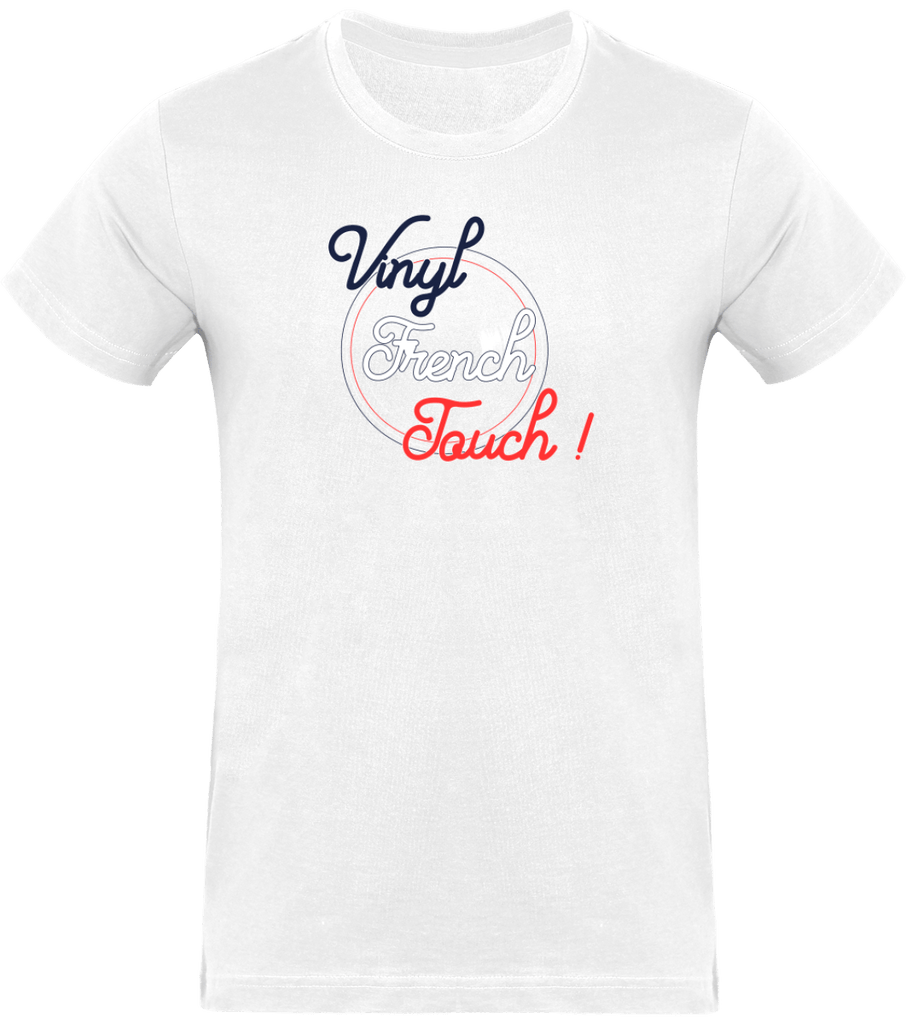 T-shirt Homme Col rond - Vinyl French Touch Circle