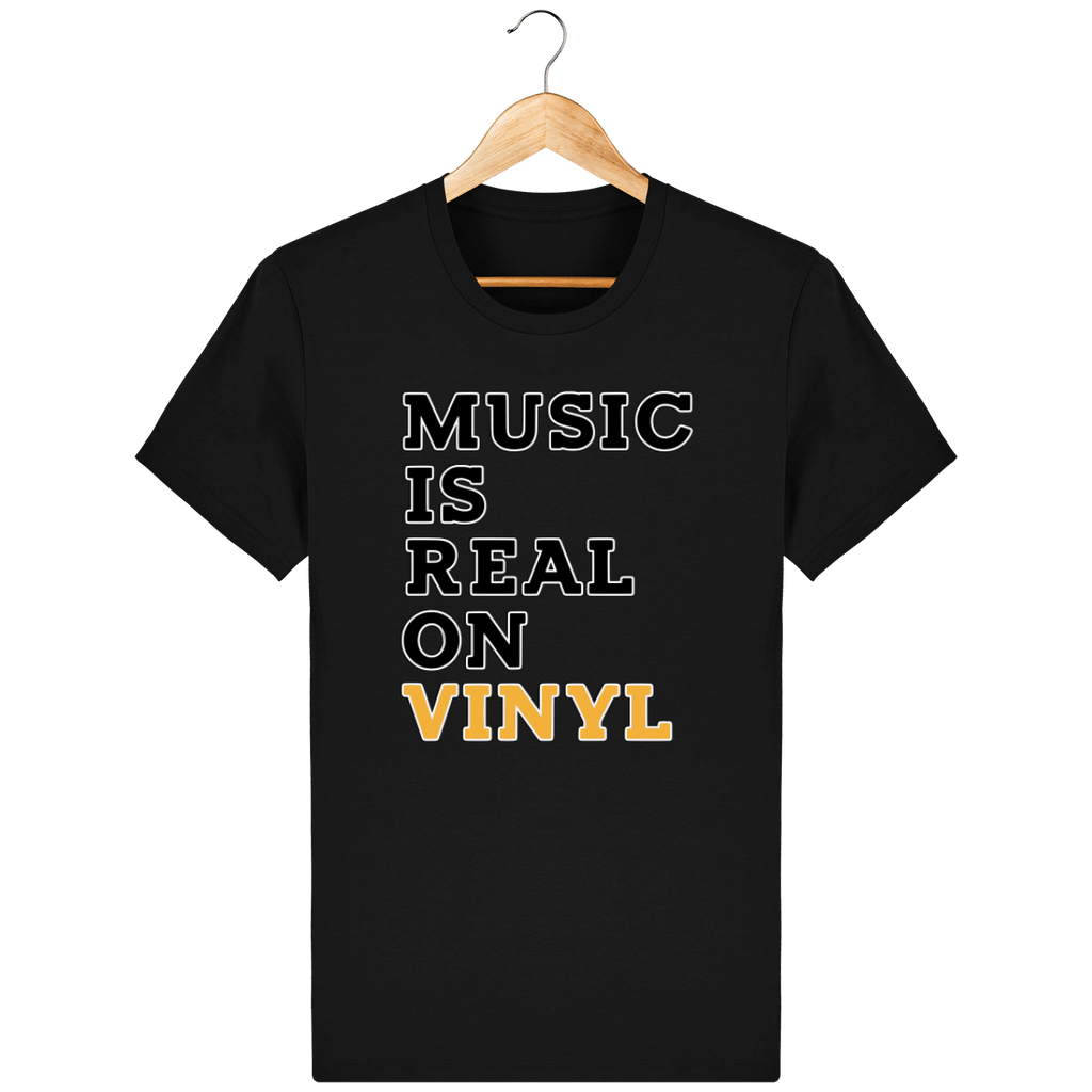 T-Shirt homme Bio🌱 - Music Is Real On vinyl
