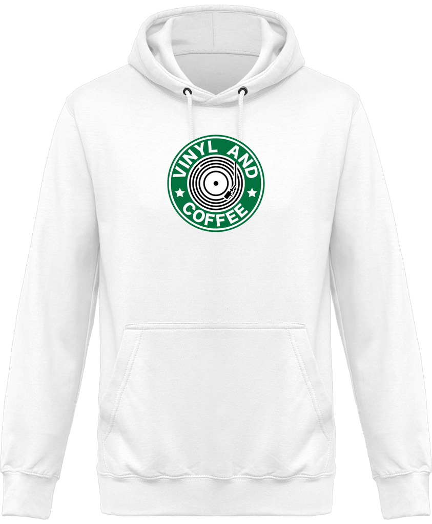 Sweat Shirt à Capuche Homme - Vinyl and Coffee