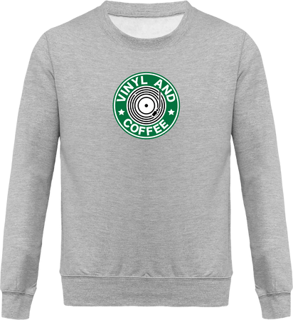 Sweat Col Rond Homme - Vinyl and Coffee