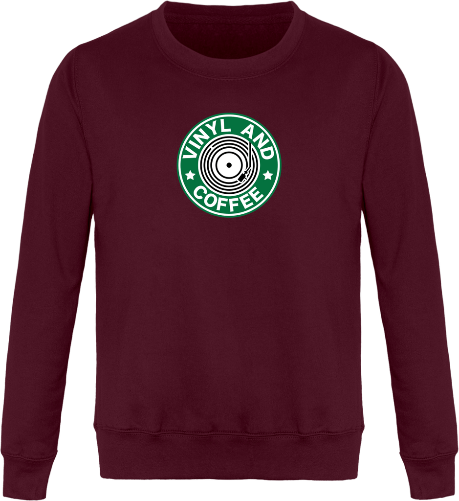Sweat Col Rond femme - Vinyl and Coffee