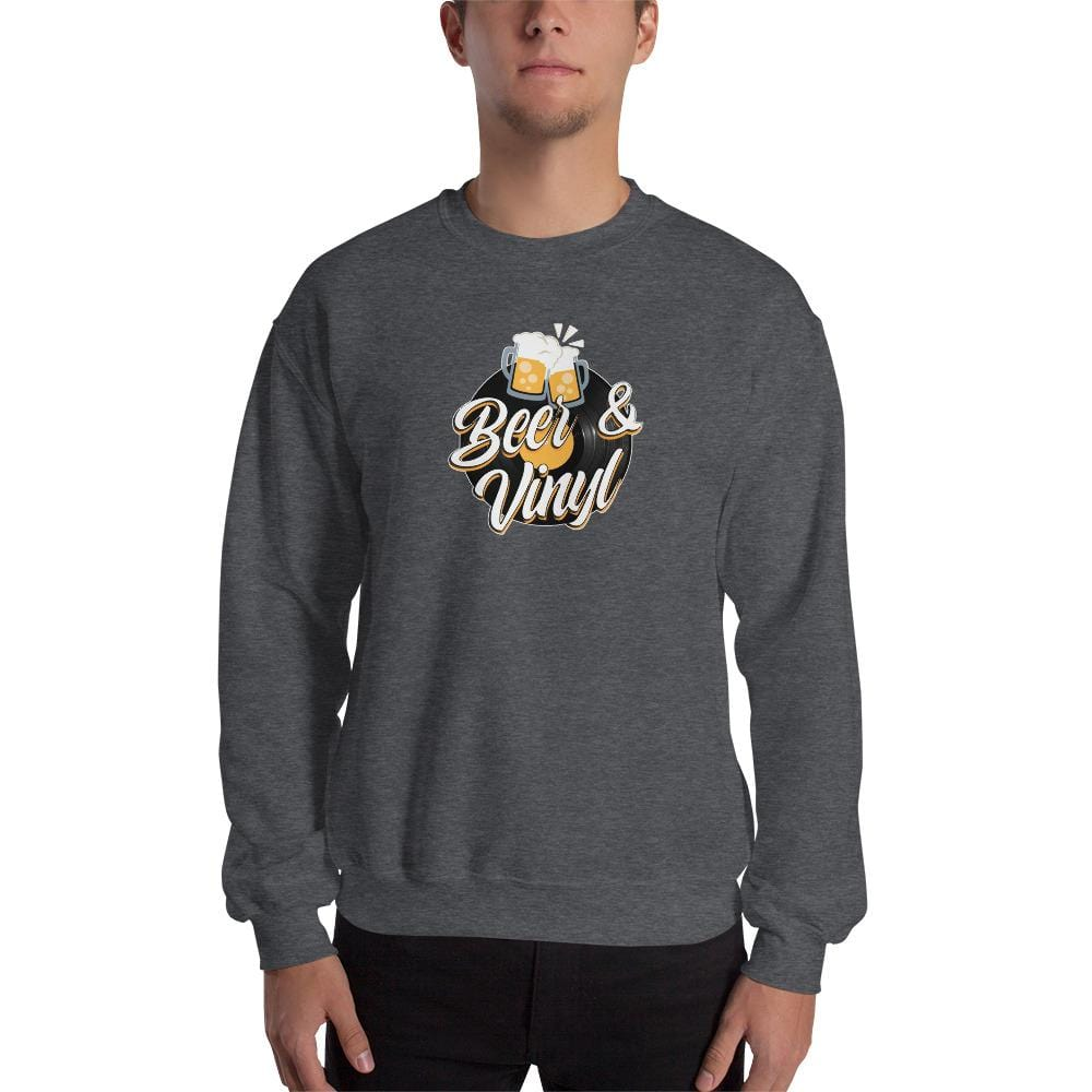 Sweat homme col rond - Beer & Vinyl