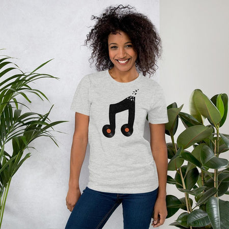 t-shirt femme col rond - vinyl and birds-Mister Galette