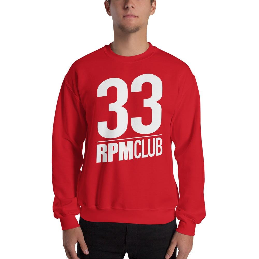 Sweat Homme Col Rond - 33 RPM Club (Blanc)