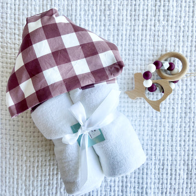 Hooded Towel | Aggie Plaid