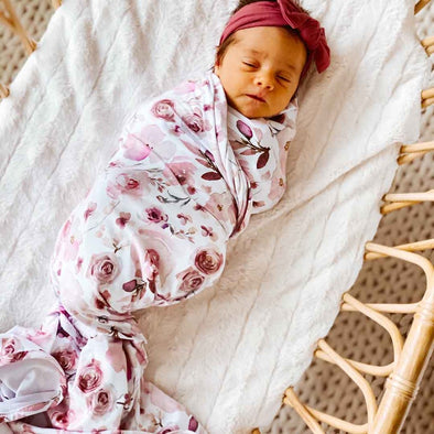 CL Oversized Swaddle | Rosie's Rose Garden