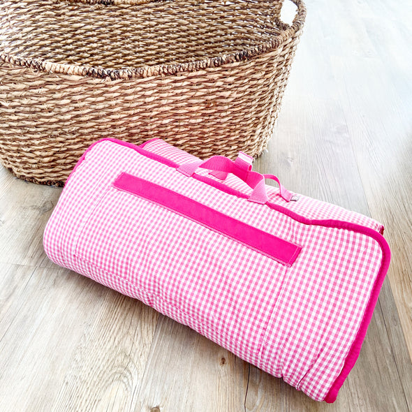 Nap Roll | Hot Pink Gingham