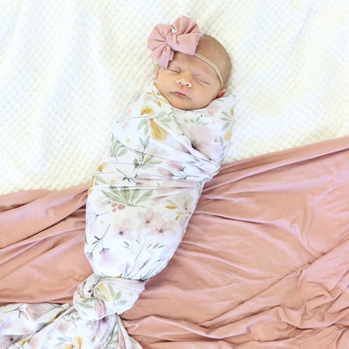 CL Oversized Swaddle | Maeve's Mauve & Mustard Floral