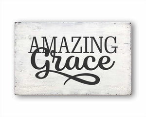 Amazing Grace Box Sign