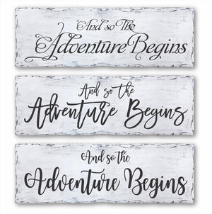 And So The Adventure Begins Sign