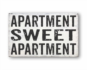 apartment sweet apartment box sign