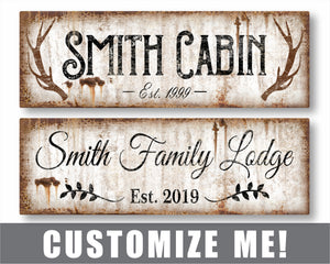 Custom Rustic Metal Sign for Cabin, Lake House, or Beach House