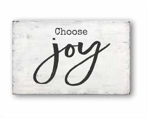 Choose Joy Sign