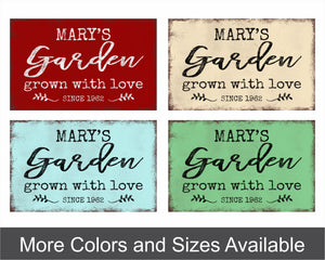 Custom Garden Metal Sign