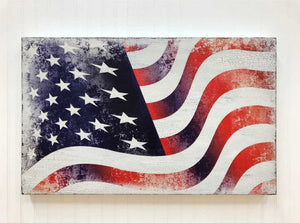 american flag box sign