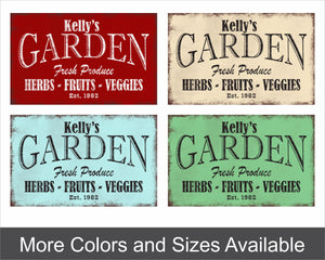 custom metal garden sign color examples