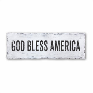 God Bless America Plank Sign