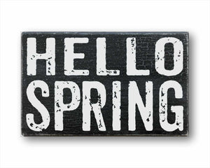 hello spring box sign