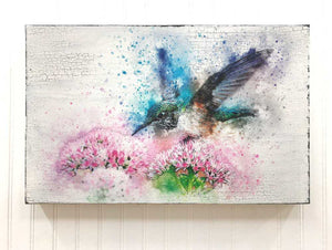 hummingbird box sign