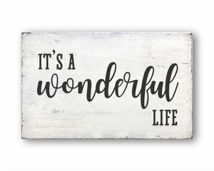 It's A Wonderful Life Sign