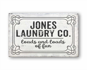Custom Laundry Co. Loads And Loads Of Fun Sign-2