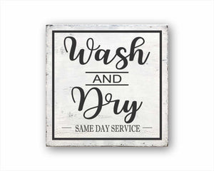 Wash and Dry - Same Day Service