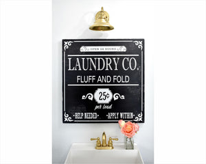 Laundry Co. Fluff and Fold Sign