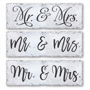 Mr. & Mrs. Sign