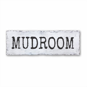 Mudroom Plank Sign
