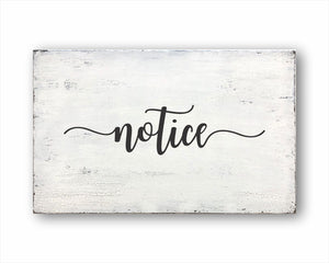 notice box sign