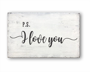 P.S. I Love You Box Sign