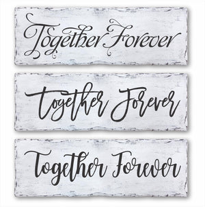 Together Forever Box Sign