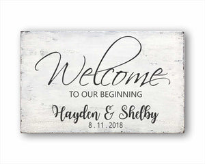 welcome to our wedding custom box sign
