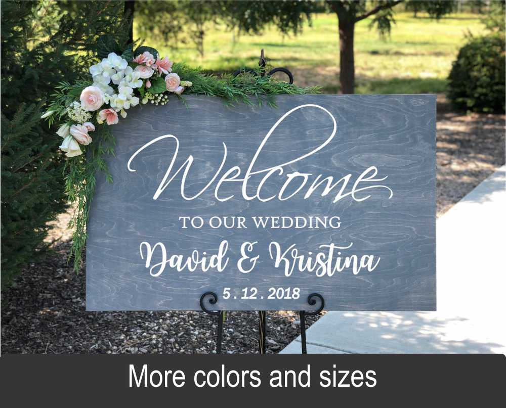 Welcome To Our Wedding: Personalized Rustic Rectangular Wood Sign