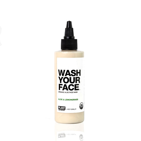 Start by washing your face with this organic face wash.