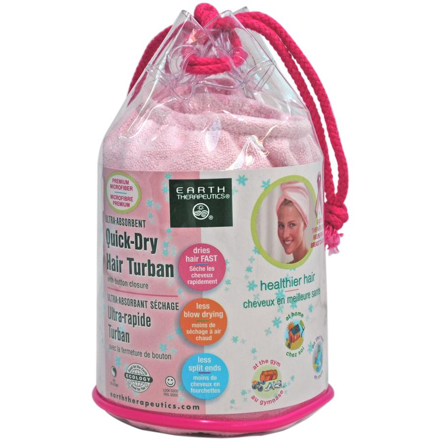 Ultra-Absorbent Quick-Dry Hair Turban - Pink