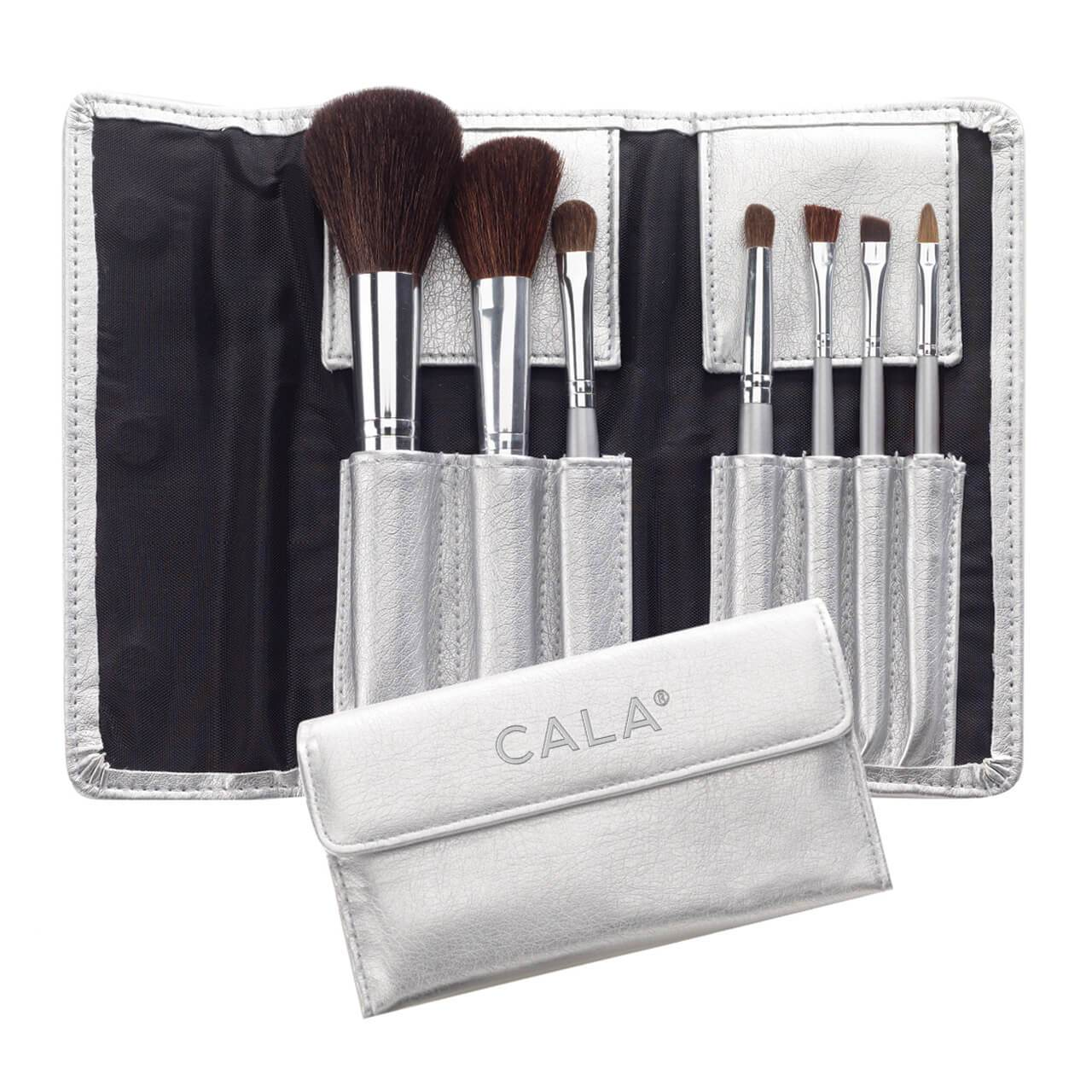 Cosmetic Brush Collection w/ Silver Pouch