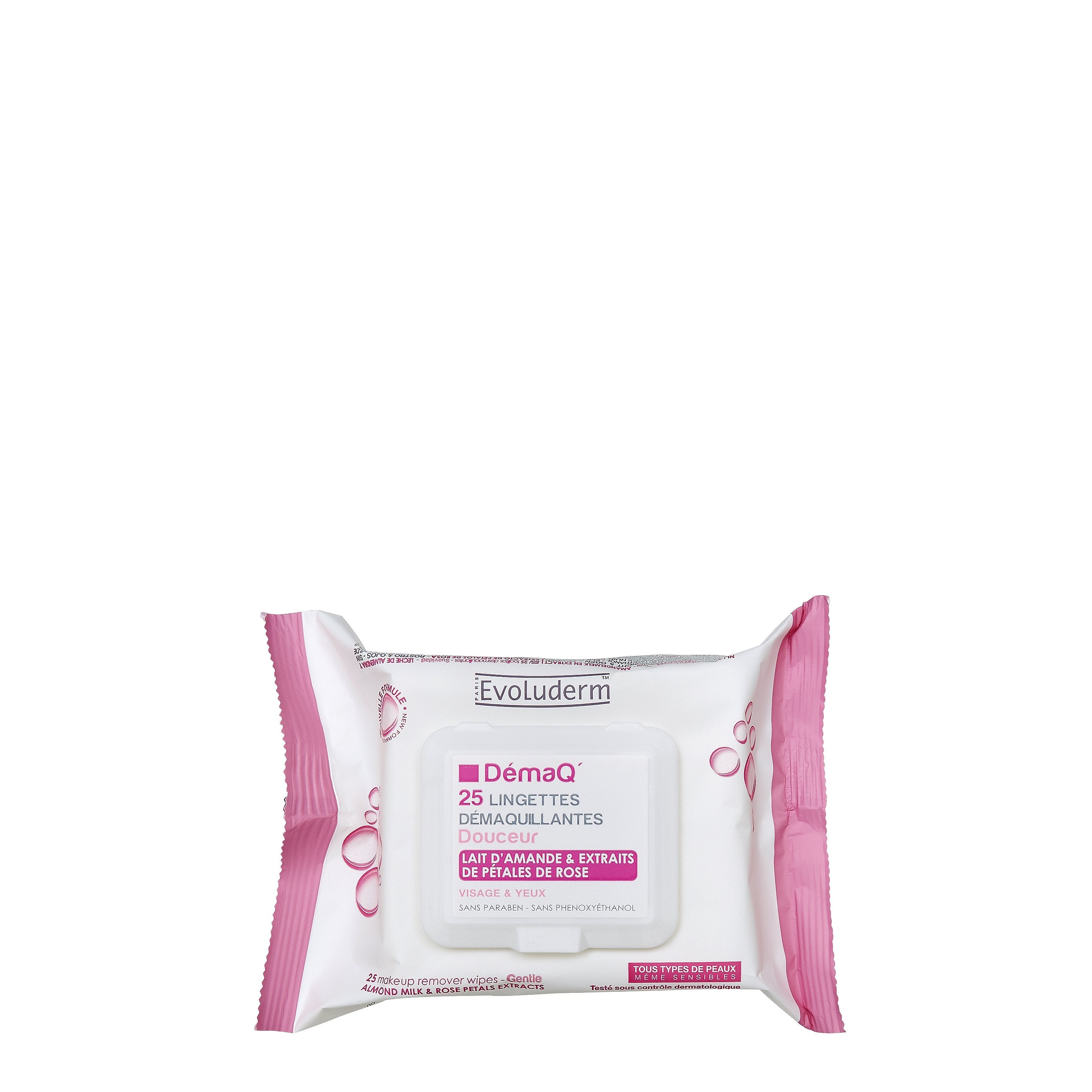 Make-Up Remover Wipes with Rose Petal Extracts