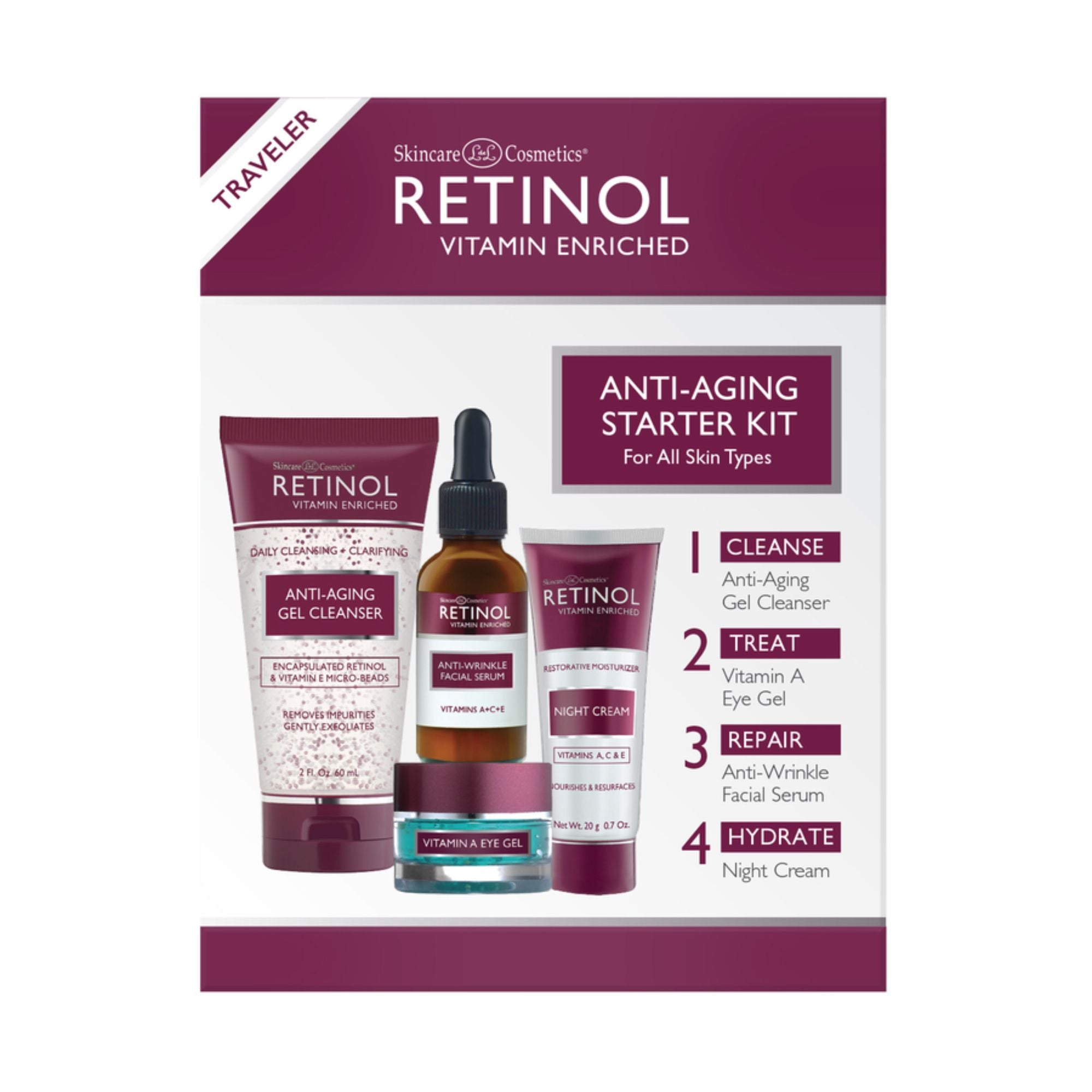 Anti-Aging 4 Pc Starter Kit Travel Size