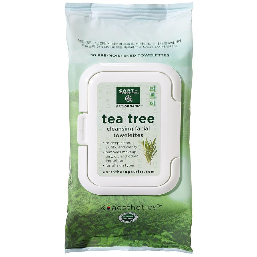 Tea Tree Cleansing Facial Towelettes